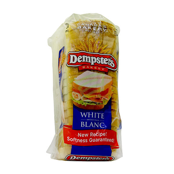 Indian grocery online - Dempster's Bread White 675g - Cartly