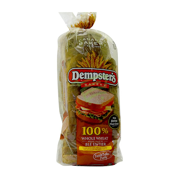 Indian grocery online - Dempster's Bread Whole Wheat 675g - Cartly