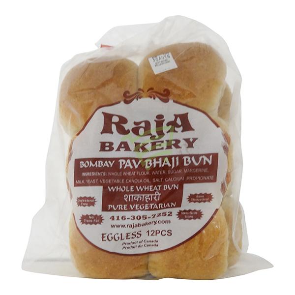 Indian grocery online - Raja whole Wheat Pav Buns 12 Pcs - Cartly