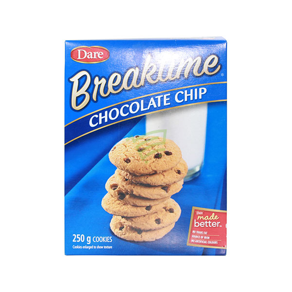 Indian grocery online - Dare Chocolate Chip Cookies 250G - Cartly