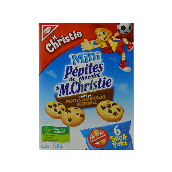 Indian grocery online - M.Christie Mini Biscuits With Chocolate Chips 180G - Cartly