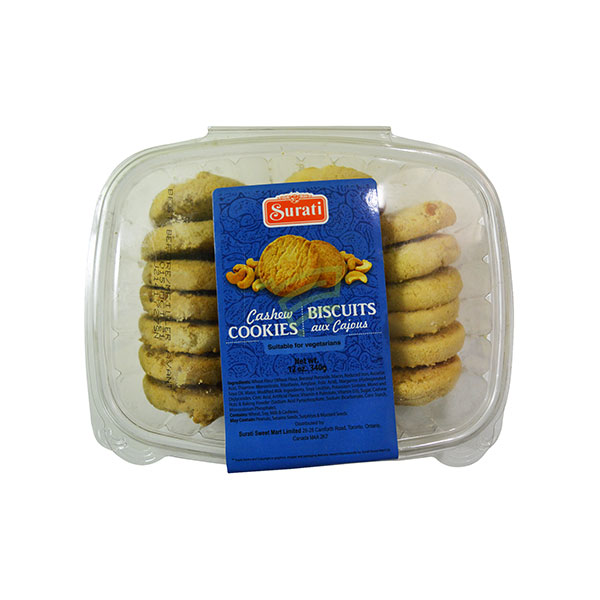 Indian grocery online - Surati Cashew Cookies 340G - Cartly