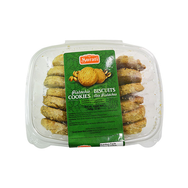 Indian grocery online - Surati Pista Cookies 340G - Cartly