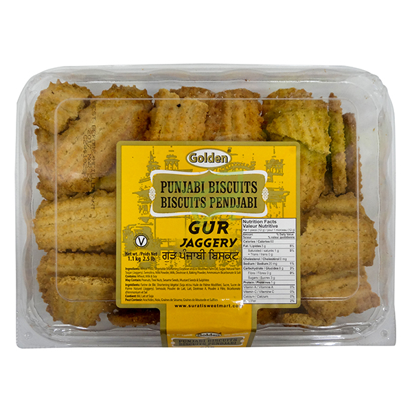 Indian grocery online - Golden Punjabi Biscuits Gur 2.5lb - Cartly