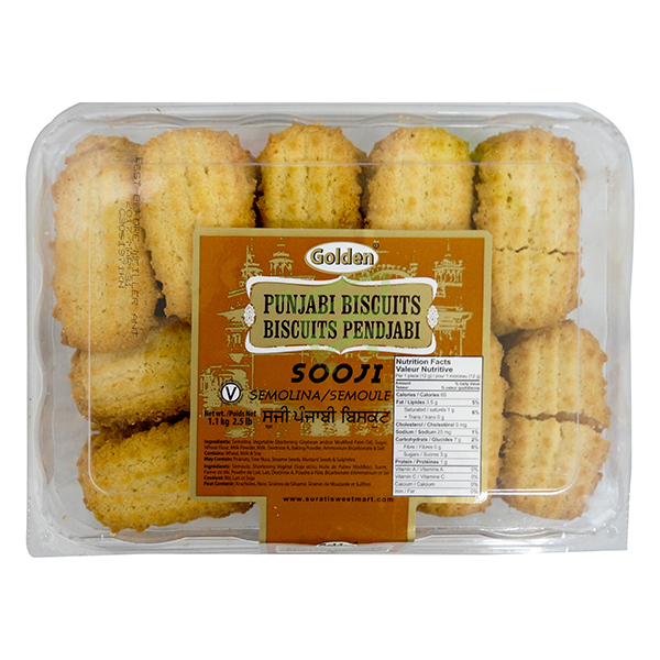 Indian grocery online - Surti Punjabi Cookies Sooji 2.5lb - Cartly
