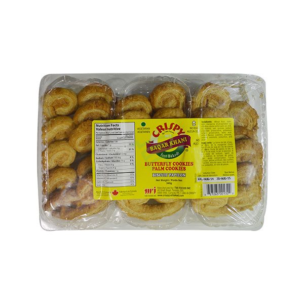 Indian grocery online - Crispy Baqar Khani Butterfly Cookies 340G - Cartly