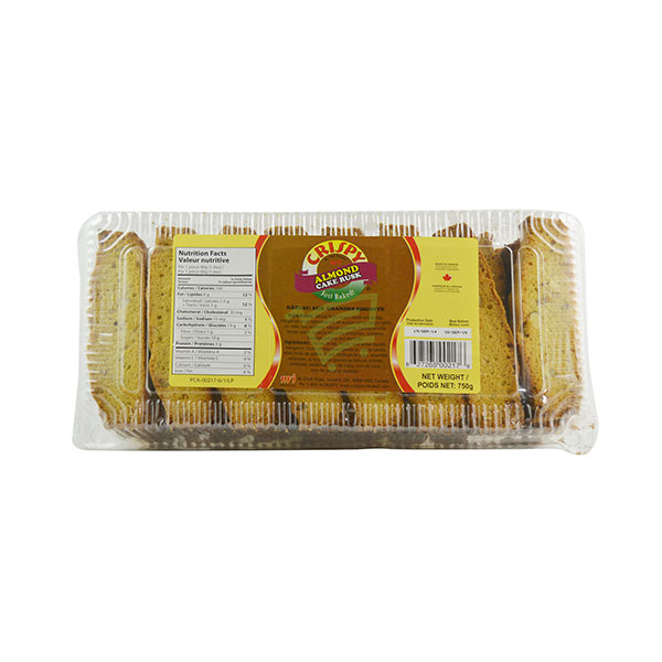 Indian grocery online - Crispy Almond Cake Rusk 750G - Cartly