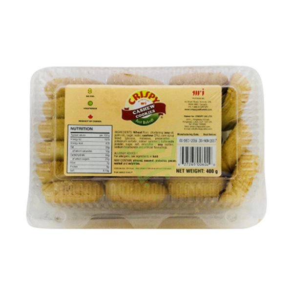 Indian grocery online - Crispy Cashew Cookie 400g - Cartly