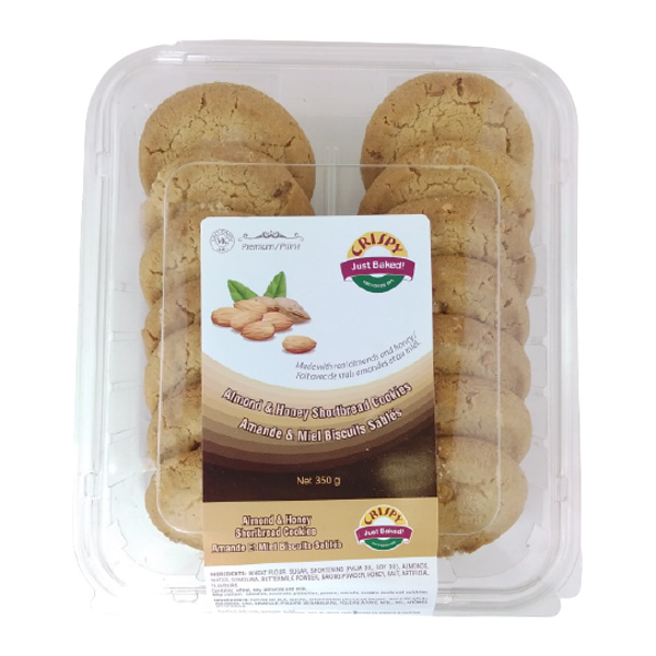 Indian grocery online - Crispy Almond & Honey Cookies 350G - Cartly