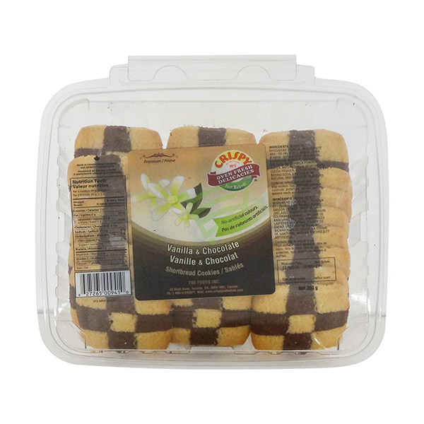 Indian grocery online - Crispy Chocolat & Vanilla Cookies 350G - Cartly