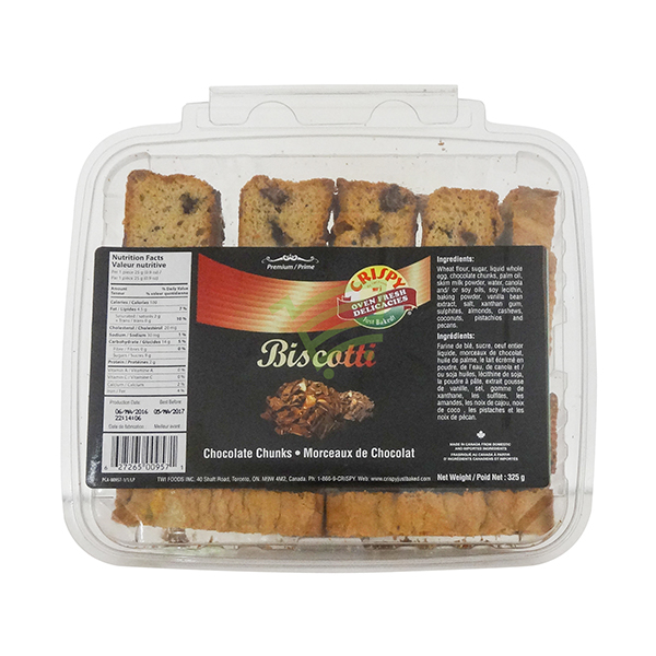 Indian grocery online - Crispy Chocolate Biscotti 325G - Cartly