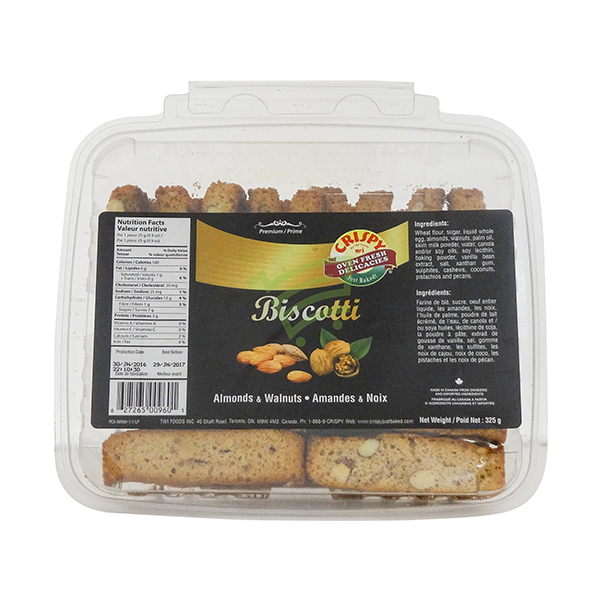 Indian grocery online - Crispy Almonds&Walnuts Biscotti 325G - Cartly