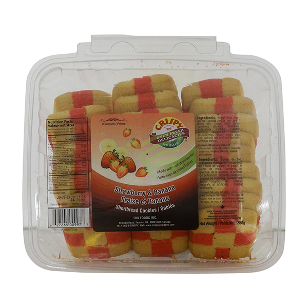 Indian grocery online - Crispy Strawberry&Banana Cookies 350G - Cartly