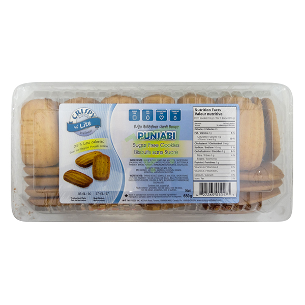 Indian grocery online - Crispy Punjabi Cookies Suger Free 650G - Cartly