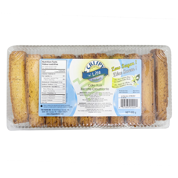 Indian grocery online - Crispy Cake Rusk Sugar Free 650G - Cartly