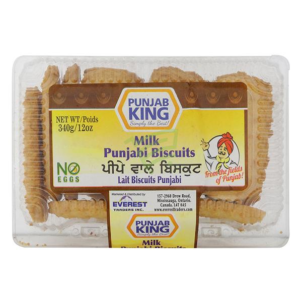 Indian grocery online - Punjab King Milk Punjabi Biscuits 340G - Cartly