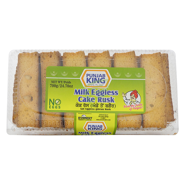 Indian grocery online - Punjab King Cake Rusk No Egg 700G - Cartly