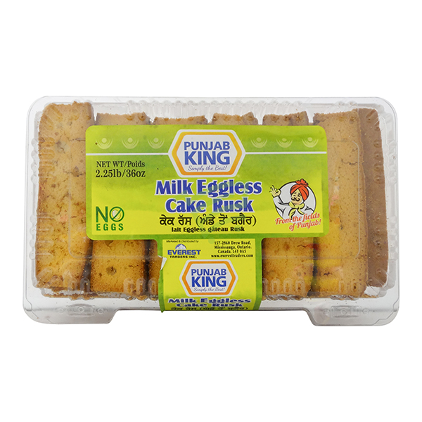 Indian grocery online - Punjab King Milk Eggless Cake Rusk 2.27lb - Cartly