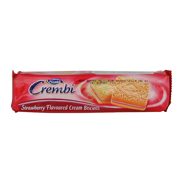 Indian grocery online - Crembi Strawberry Flvr Cookies - Cartly