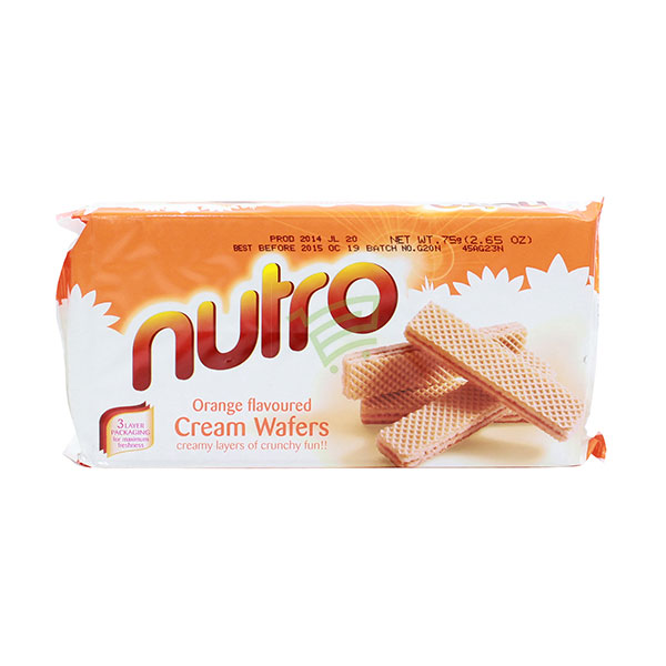 Indian grocery online - Nutro Orange Cream Wafers 75G - Cartly