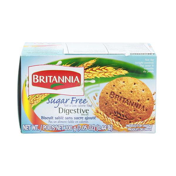 Indian grocery online - Britannia Sugar Free Digestive Biscuits 200G - Cartly