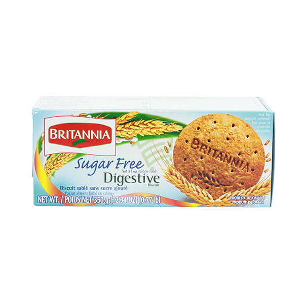 Indian grocery online - Britannia Sugar Free Digestive Biscuits 350G - Cartly