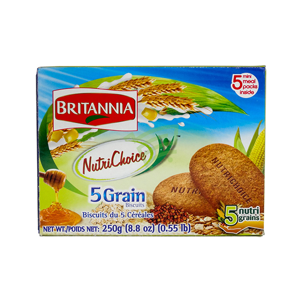 Indian grocery online - Britannia 5grain Biscuits 250G - Cartly