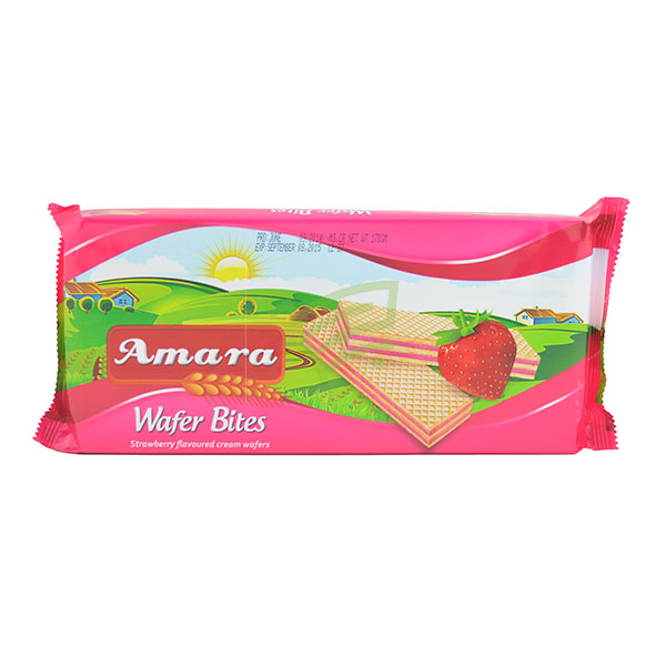 Indian grocery online - Amara Strawberry Wafer 170G - Cartly