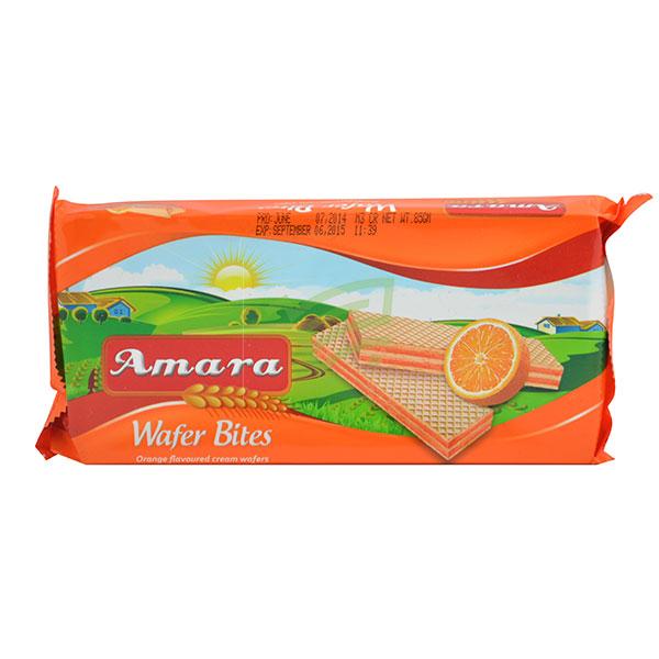 Indian grocery online - Amara Orange Wafer Bites 85G - Cartly