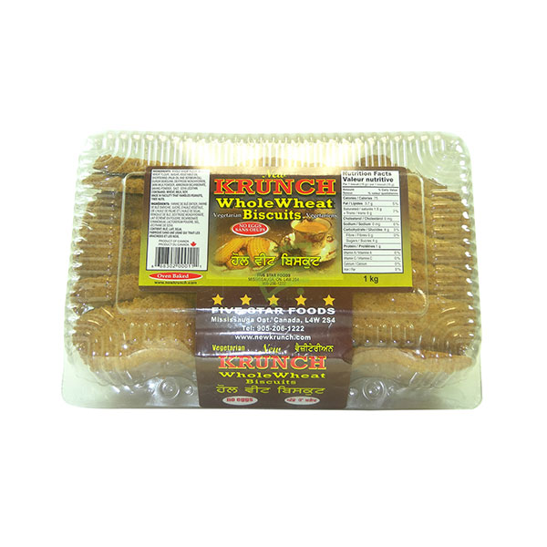 Indian grocery online - Krunch Whole Wheat Biscuits 2.5lb - Cartly