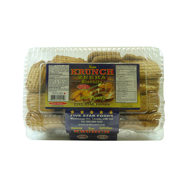 Indian grocery online - Krunch Zeera Biscuits 2.5lb - Cartly