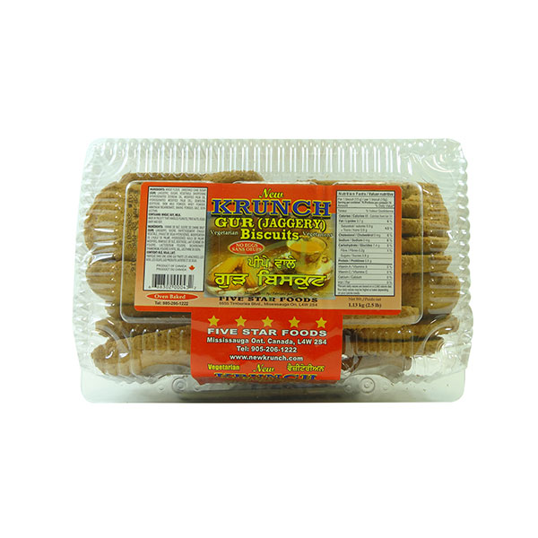 Indian grocery online - Krunch Gur (Jaggery) Biscuits 2.5lb - Cartly