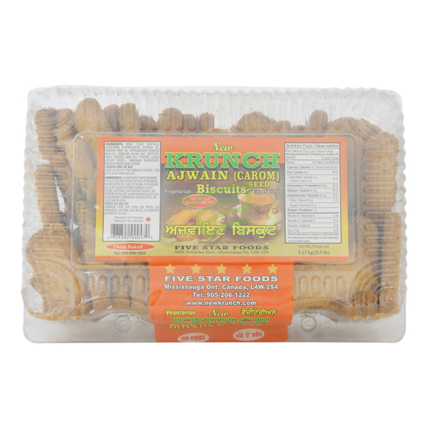 Indian grocery online - Krunch Ajwain Biscuits 2.5lb - Cartly