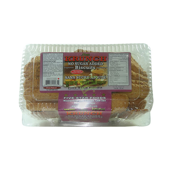 Indian grocery online - Krunch Sugar Less Biscuits 2lb - Cartly