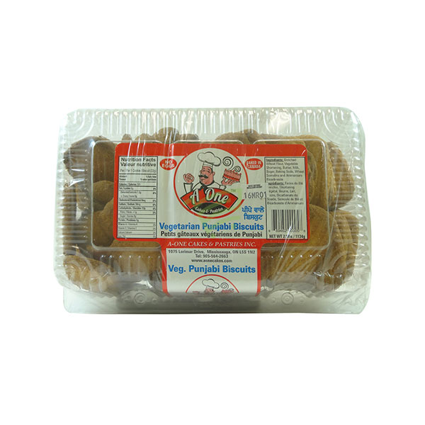 Indian grocery online - A One Vegetarian Punjabi Biscuits 2.5lb  - Cartly