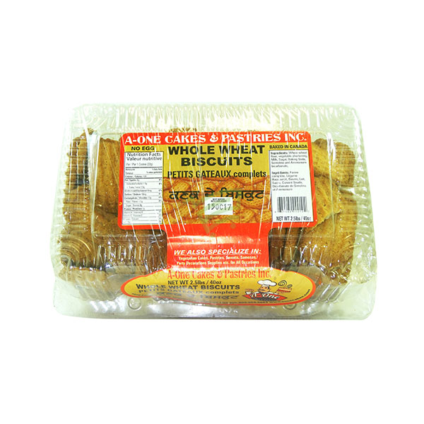Indian grocery online - A One Whole Wheat Biscuits 2.5lb - Cartly