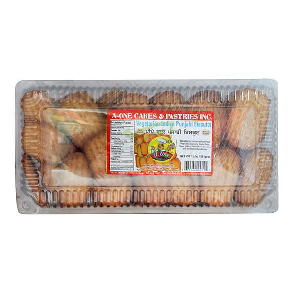Indian grocery online - A One Veg. Punjabi Cookies 1.5lb - Cartly