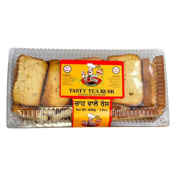Indian grocery online - A One Tasty Tea Rusk 400G - Cartly