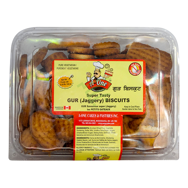 Indian grocery online - A One Gur Biscuits 2.5lb - Cartly