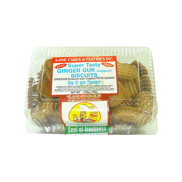 Indian grocery online - A One Ginger Gur Biscuits 2.5lb - Cartly