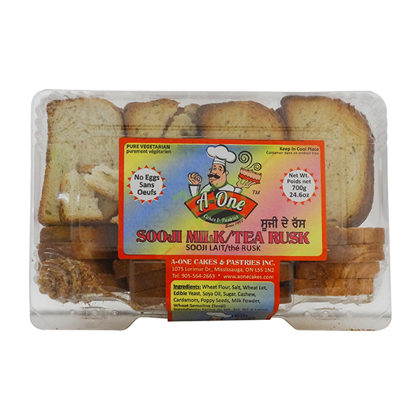 Indian grocery online - A One Sooji Milk Tea Rusk 700G - Cartly
