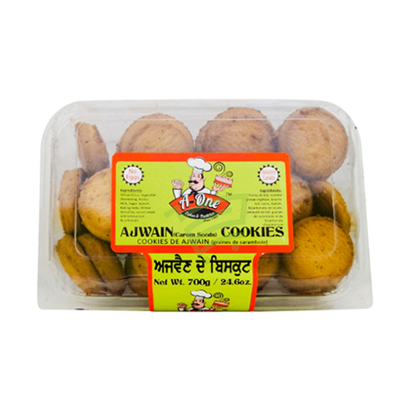 Indian grocery online - A-one ajwain cookies700g - Cartly