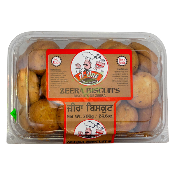 Indian grocery online - A One Zeera Biscuits 700G - Cartly