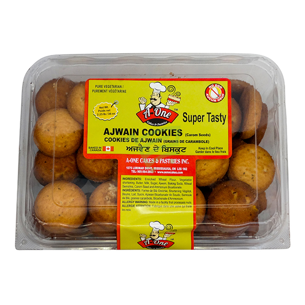 Indian grocery online - A One Ajwain Cookies 2.5lb - Cartly
