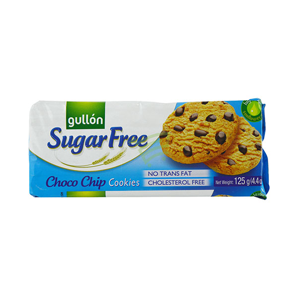 Indian grocery online - Gullon Sugar Free Choco Chip Cookies 125G - Cartly
