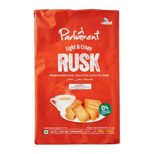 Indian grocery online - Parliament Light & Crispy Rusk 300 gms - Cartly