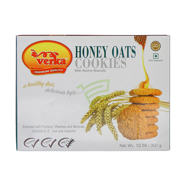 Indian grocery online - Verka Honey Oats Cookies 300G - Cartly