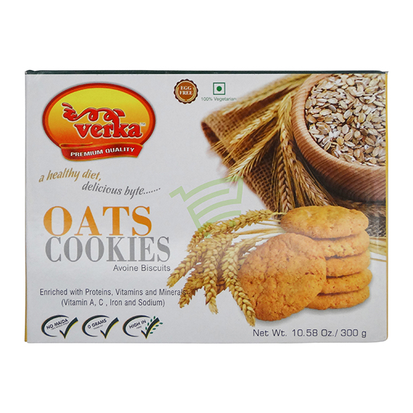 Indian grocery online - Verka Oats Cookies 300G - Cartly