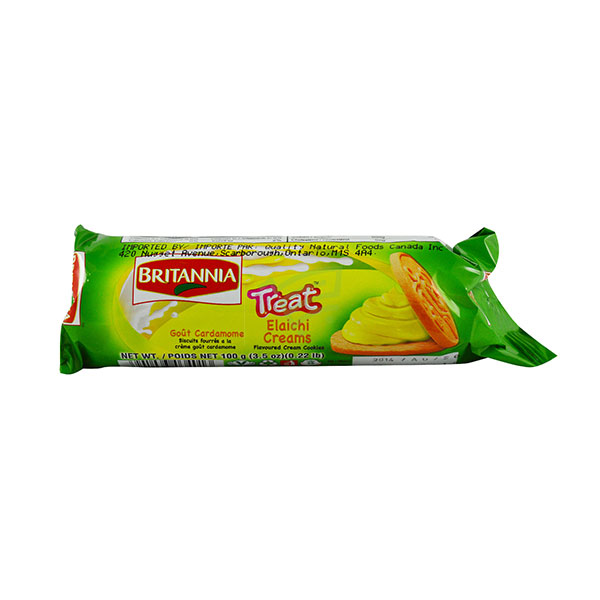 Indian grocery online - Britannia Treat Elachi Cream  Biscuits 100G - Cartly