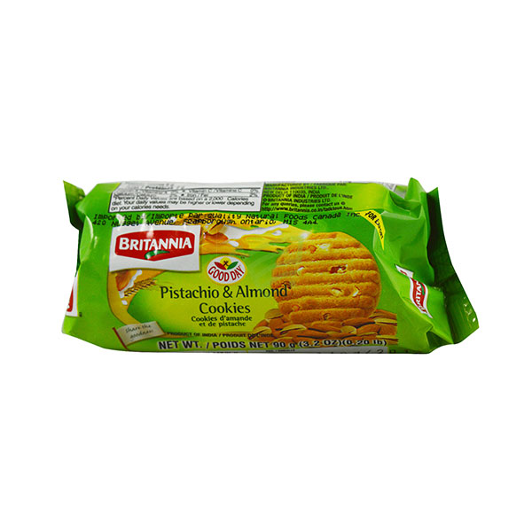 Indian grocery online - Britannia Good Day Pistachio & Almond Cookies 90G - Cartly